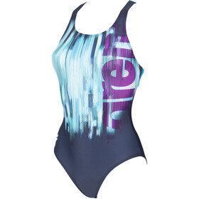 arena Drawing Swim Pro Back One Piece Swimsuit Women navy/turquoise